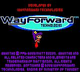 Shantae Game Boy Color Shantae walking across WayForward logo