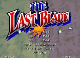 The Last Blade Neo Geo Main menu