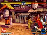 The Last Blade Neo Geo That's messy, Shikyoh is causing pain to Akari