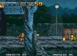 Metal Slug 4 Neo Geo Firing the phone booths can give me golden coins.