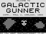 Galactic Gunner ZX81 Title screen