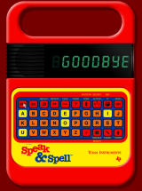 Speak & Spell Online Browser If I press thew 'Off' button, it says 'GOODBYE'.