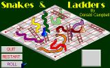 Snakes & Ladders Atari ST In mid game