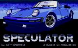 Speculator Atari ST Title screen