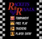 Rackets & Rivals NES Main Menu