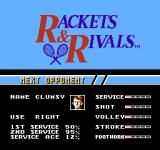 Rackets & Rivals NES Next opponent
