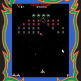 Galaga Palm OS Firing into the alien formation