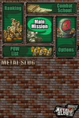 Metal Slug 7 Nintendo DS Main menu