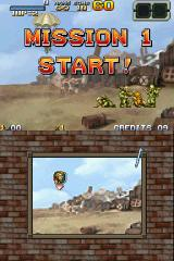 Metal Slug 7 Nintendo DS Starting at Mission 1