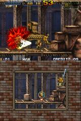 Metal Slug 7 Nintendo DS The shotgun is too powerful than another weapon and causes the blood spills