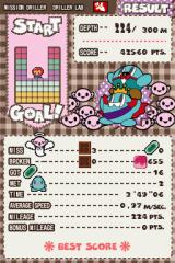 Mr. DRILLER: Drill Spirits Nintendo DS After each level, you'll get rated on your performance.