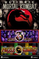 Ultimate Mortal Kombat 3 Nintendo DS Title screen