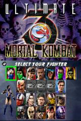 Ultimate Mortal Kombat 3 Nintendo DS Character select screen