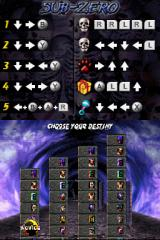 Ultimate Mortal Kombat 3 Nintendo DS Difficulty selection