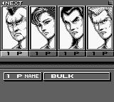 Raging Fighter Game Boy Select a fighter for the tournament mode. The other three are displayed on another screen.
