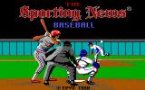 The Sporting News Baseball DOS Title screen (EGA)