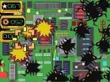 Dexter's Laboratory: Science Ain't Fair Windows The Bug Attack! mini game. These are computer bugs and the object is to zap a target number, here it's 67, before time runs out