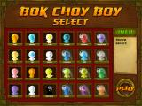 Bok Choy Boy iPad Unit selection screen