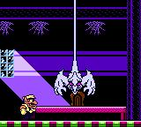 Wario Land II Game Boy Color Fighting a boss - the ghost
