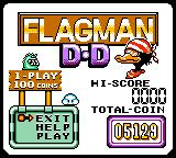 Wario Land II Game Boy Color Unlockable game: Flagman D-D