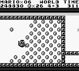 Super Mario Land Game Boy Mario enters to the coins room but he needs to hurry up to clear the road