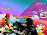 Looney Tunes: Space Race Dreamcast Hit by a piano