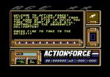Action Force Commodore 64 The title screen.
