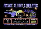 Arcade Flight Simulator Commodore 64 The title screen.