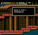 Faxanadu NES That's what the game tells you when you die...