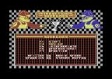 International Speedway Commodore 64 The title screen.