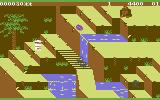 Congo Bongo Commodore 64 Gameplay on the first level (Sega version)