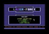 Lazer Force Commodore 64 Title screen.