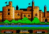 The Fantastic Adventures of Dizzy DOS Dizzy enters the Prince's castle after the crossbow shooting minigame