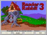 Reader Rabbit 3 Windows 3.x Title screen