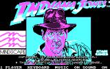 Indiana Jones and the Temple of Doom DOS Title Screen (CGA).