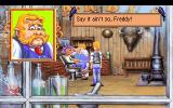 Freddy Pharkas: Frontier Pharmacist DOS The barber shop