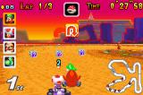 Mario Kart Super Circuit Game Boy Advance Hit a teepee at the Sunset Wilds track and a Shy Guy will jump on your back to slow you down.