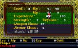 Ys II Special DOS Status screen