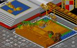 Populous Amiga A desert world.