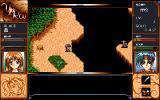 Yūrō: Transient Sands PC-98 A powerful enemy is looking at you from across the gap. You stare back, unfazed