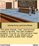 Secret of the Lost Link J2ME Beginning of the game - apparently, the students aren't impressed