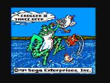 Frogger II: ThreeeDeep! PC Booter Title screen (CGA with composite monitor)