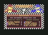 International Speedway Commodore 64 After the national championship comes the continental one. In this case the european championships. The names of your opponents change from championship to championship.