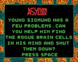 Asylum Acorn 32-bit Title screen with story