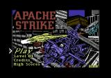 Apache Strike Commodore 64 Title screen.