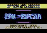 Ball-Blasta Commodore 64 Title screen.