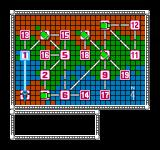 Bionic Commando NES The map screen between areas