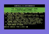 Cartels & Cutthroat$ Commodore 64 Game options.