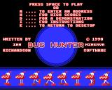 Bug Hunter / Moon Dash Acorn 32-bit Title screen / Main menu (Bug Hunter)