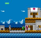 Bionic Commando NES Neutral Areas allow no hostilities and are crewed by white helmeted soldiers